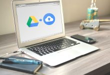 macbook met google drive en file stream logo