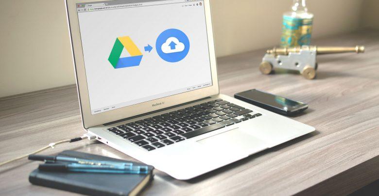 macbook met google drive en file stream logo