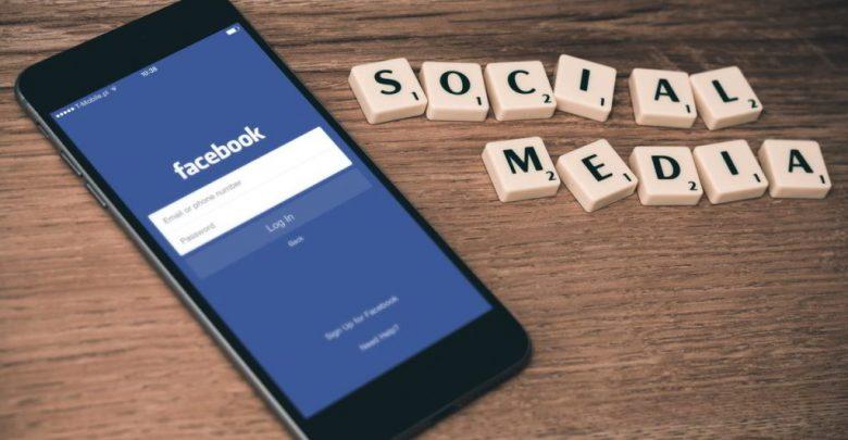 Facebook login scherm op iphone